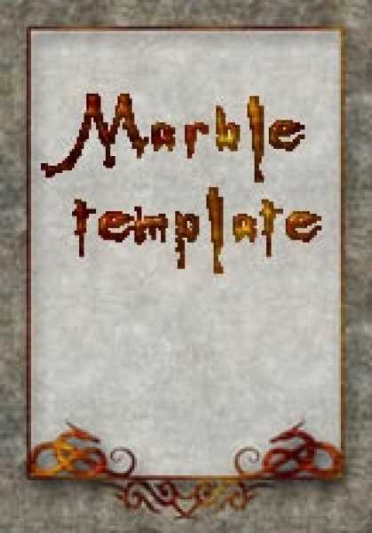 Role Playing Games - Elegant Marble Template