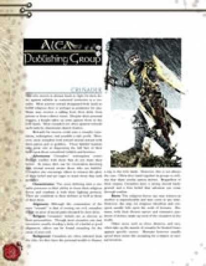 Role Playing Games - Crusader Subclass ($1.00)