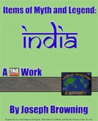 Role Playing Games - World Building Library: Items of Myth and Legend: India