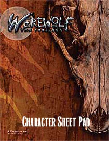 Role Playing Games - Werewolf: The Forsaken Character Sheet Pad
