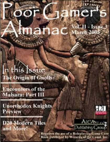 Role Playing Games - Poor Gamer's Almanac (March 2005)