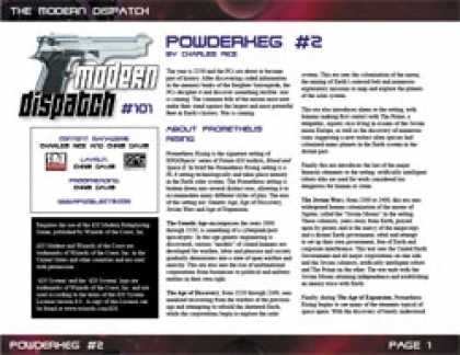 Role Playing Games - Modern Dispatch (#101): Powderkeg #2