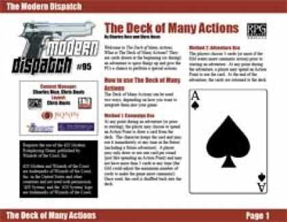Role Playing Games - Modern Dispatch (#95): The Deck of Many Actions