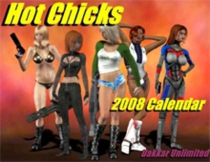 Role Playing Games - The Hot Chicks 2008 Calendar