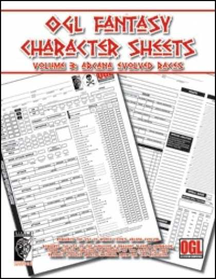 Role Playing Games - OGL Fantasy Character Sheets Volume 3: Arcana Evolved