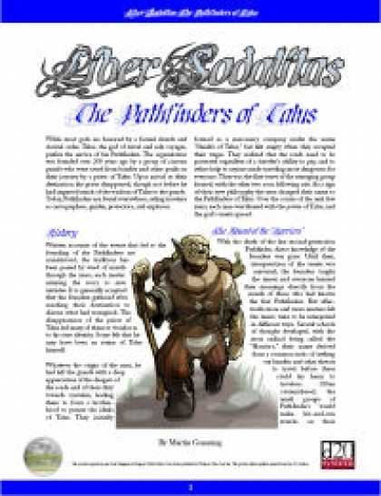 Role Playing Games - Liber Sodalitas: The Pathfinders of Talus
