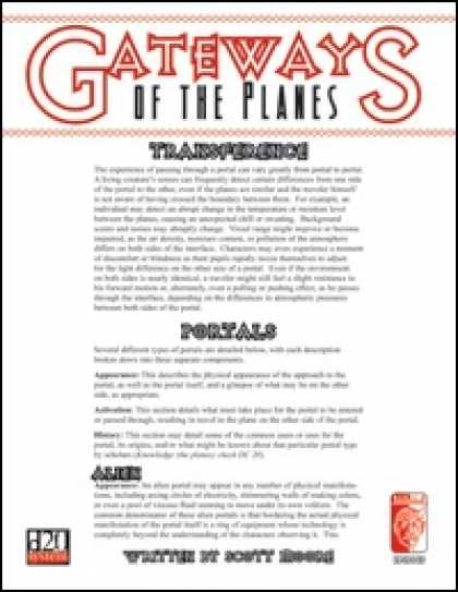 Role Playing Games - Gateways of the Planes