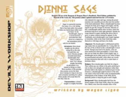 Role Playing Games - Lost Classes: Djinni Sage