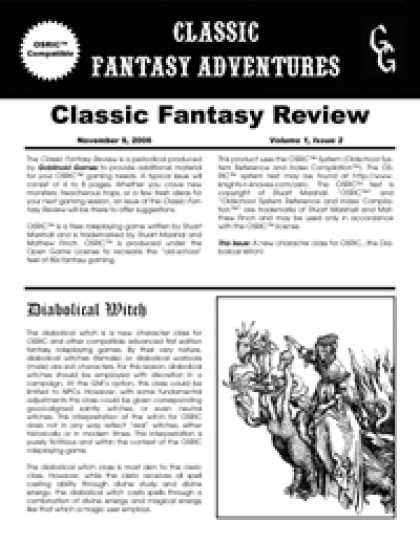 Role Playing Games - Classic Fantasy Review: Volume 1, Issue 2