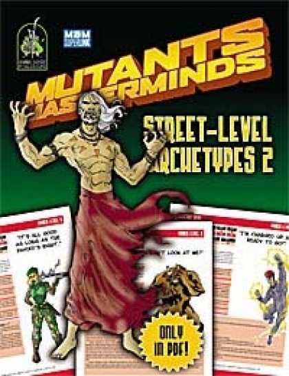 Role Playing Games - Mutants & Masterminds Street-Level Archetypes 2