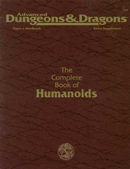 Role Playing Games - The Complete Book of Humanoids