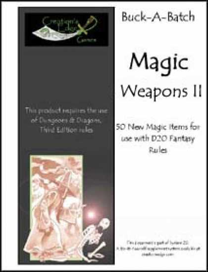 Role Playing Games - Buck-A-Batch: Magic Weapons II
