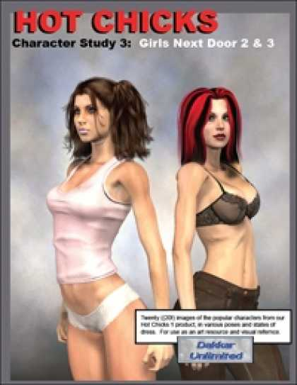 Role Playing Games - Hot Chicks Character Sketches 3: Girls Next Door 2 & 3