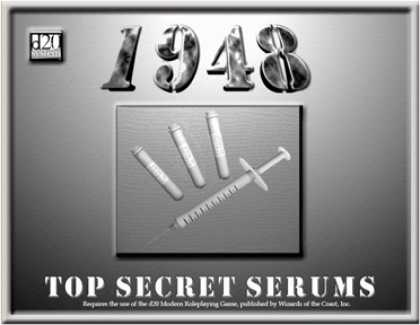Role Playing Games - 1948: Top Secret Serums