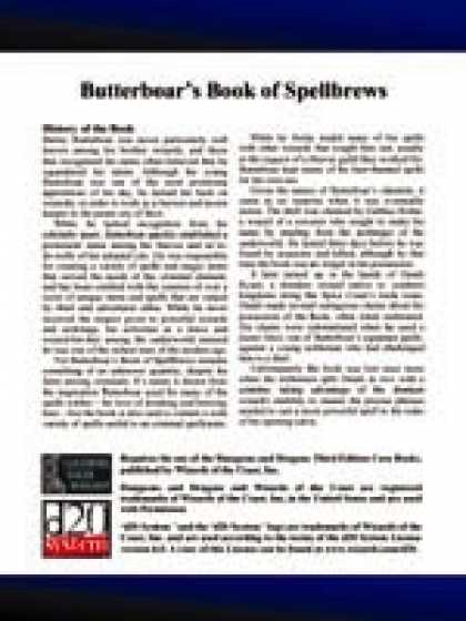 Role Playing Games - Lost Books 10: Butterboar's Book of Spellbrews