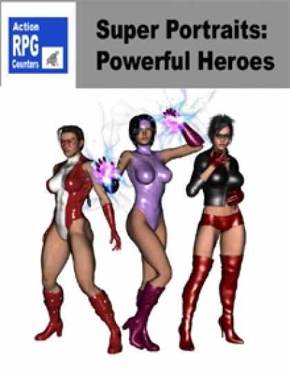 Role Playing Games - Action RPG Counters: Super Portraits: Powerful Heroes