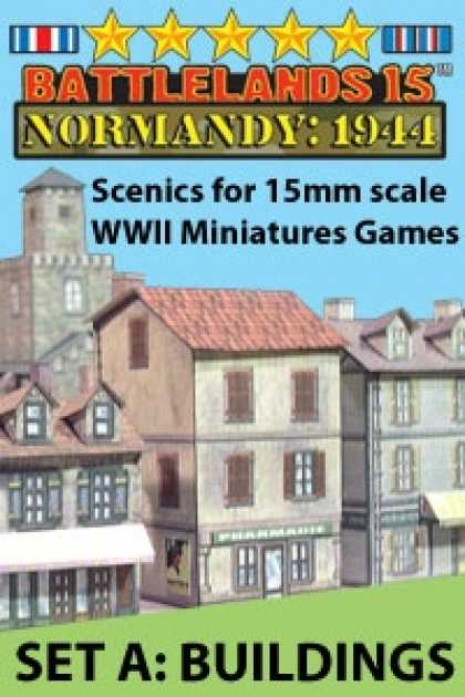 Role Playing Games - BattleLands 15mm Normandy: 1944 Set A-Buildings