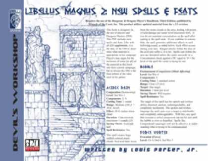 Role Playing Games - Libellus Magnus 2: Spells & Feats