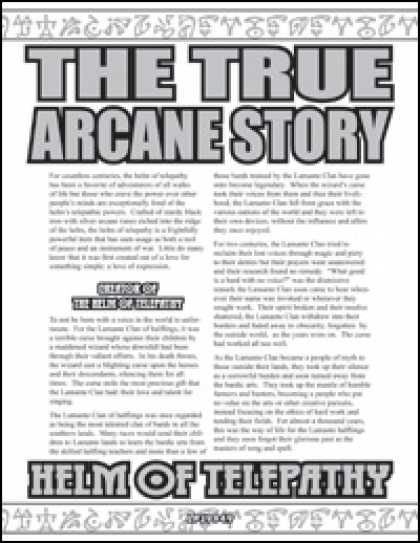 Role Playing Games - The True Arcane Story: Helm of Telepathy