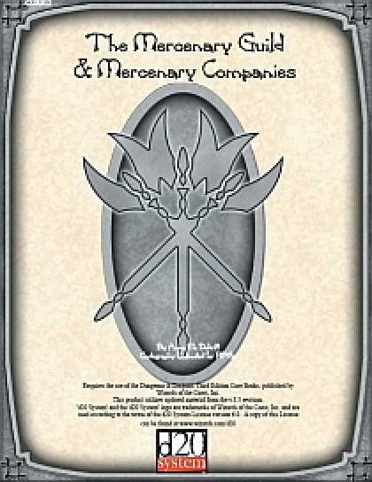 Role Playing Games - The Mercenary Guild & Mercenary Companies