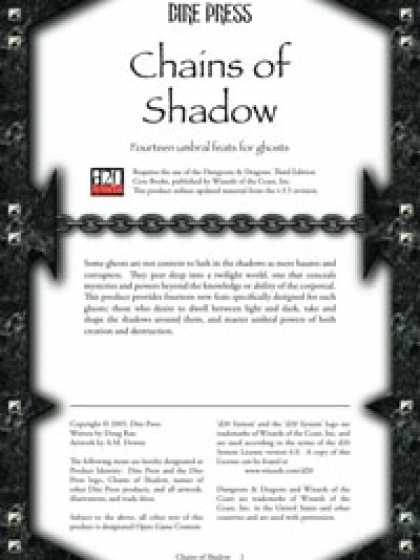 Role Playing Games - Chains of Shadow
