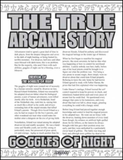 Role Playing Games - The True Arcane Story: Goggles of Night