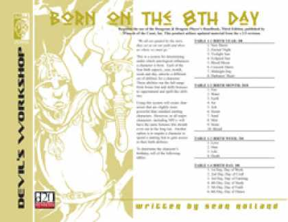 Role Playing Games - Born on the 8th Day