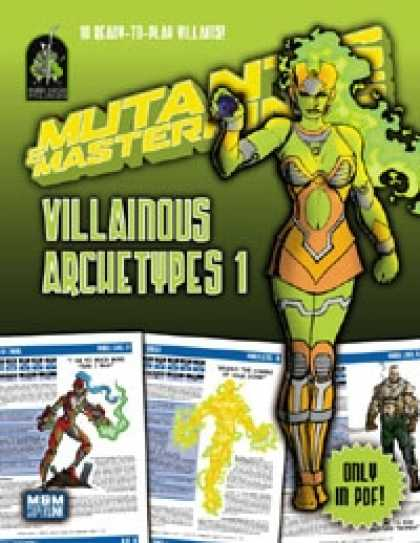 Role Playing Games - Mutants & Masterminds Villainous Archetypes 1