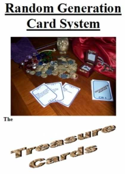 Role Playing Games - Random Generation Card System: The Treasure Cards