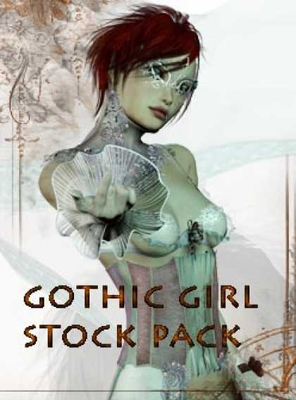 Role Playing Games - Goth Girl Stock Pack