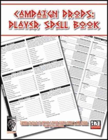 Role Playing Games - Character Props: Player Spell Book