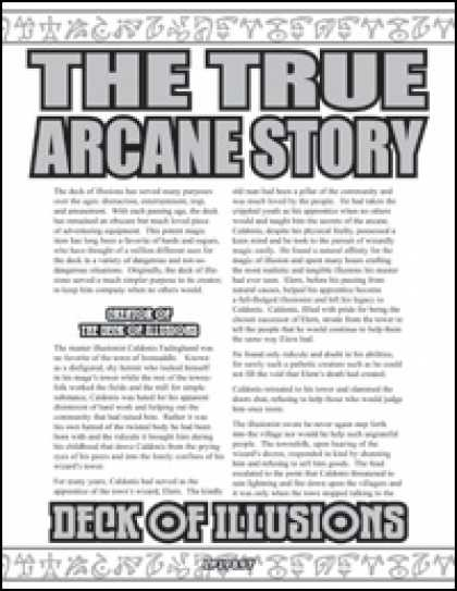 Role Playing Games - The True Arcane Story: Deck of Illusions