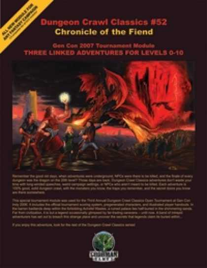 Role Playing Games - Dungeon Crawl Classics #52: Chronicle of the Fiend
