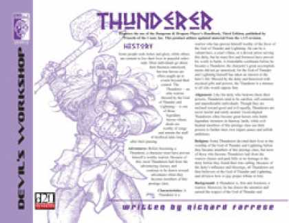 Role Playing Games - Lost Classes: Thunderer