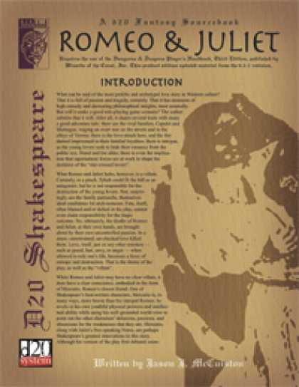Role Playing Games - D20 Shakespeare: Romeo & Juliet