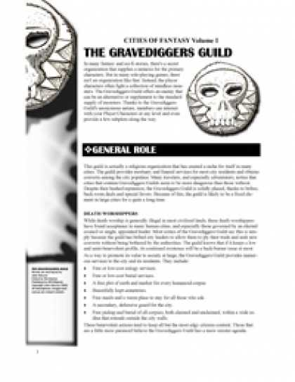 Role Playing Games - Cities of Fantasy 1: The Gravediggers' Guild