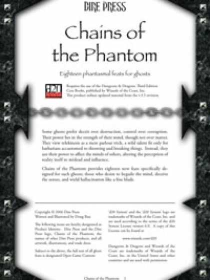 Role Playing Games - Chains of the Phantom