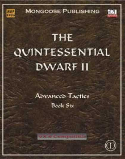 Role Playing Games - The Quintessential Dwarf II