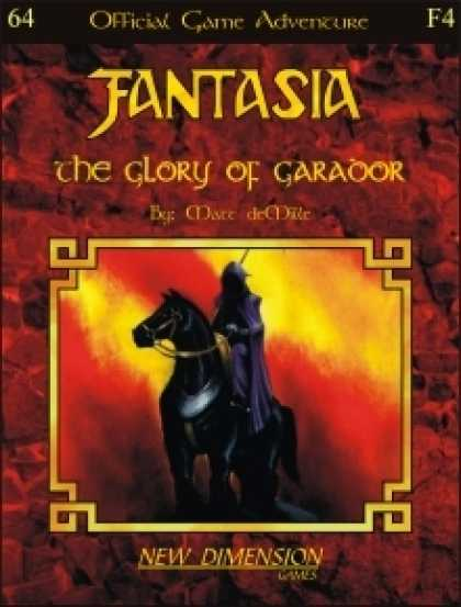 Role Playing Games - Fantasia: The Glory Of Garador--Adventure F4