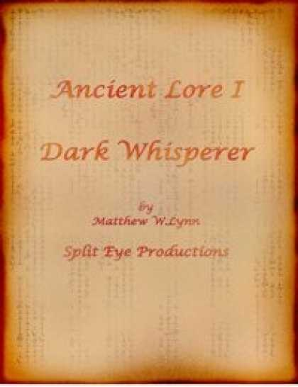 Role Playing Games - Ancient Lore I - Dark Whisperer