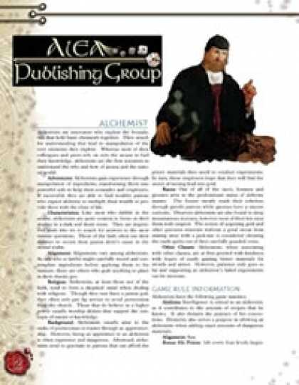 Role Playing Games - Alchemist Subclass