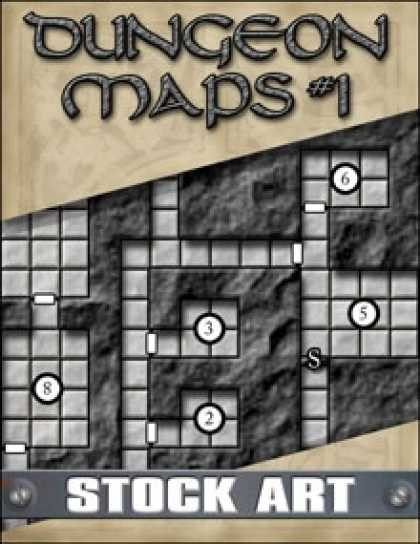 Role Playing Games - STOCK ART: Dungeon Maps #1