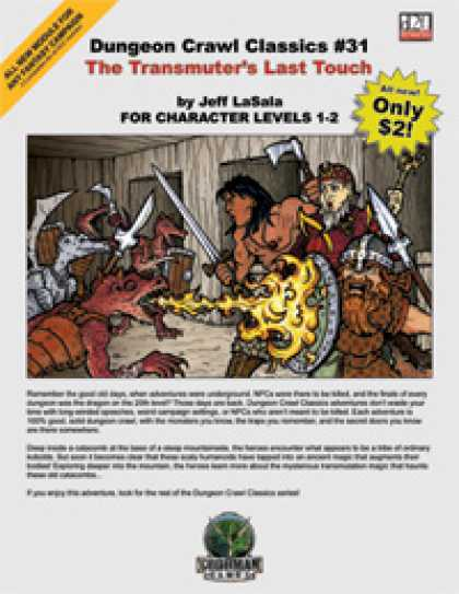 Role Playing Games - Dungeon Crawl Classics #31: The Transmuter's Last Touch