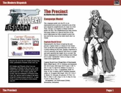 Role Playing Games - Modern Dispatch (#67): The Precinct