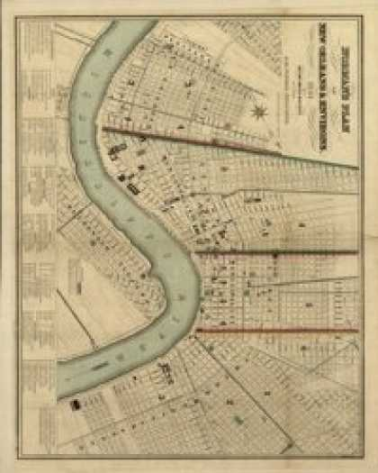Role Playing Games - Antique Maps XXX - New Orleans of the 1800s