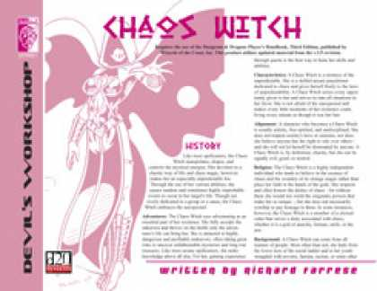 Role Playing Games - Lost Classes: Chaos Witch