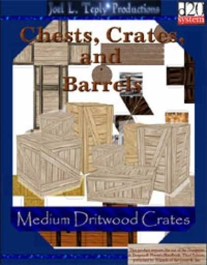 Role Playing Games - Chests, Crates, and Barrels Collection: Medium Driftwood Crates