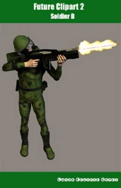 Role Playing Games - Future Clipart 2 - Soldier B