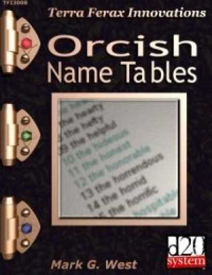 Role Playing Games - Orcish Name Tables