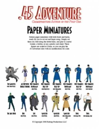 Role Playing Games - .45 Adventure Paper Miniatures